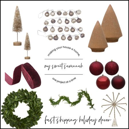 Fast shipping holiday/Christmas decor!  Ornaments, trees, wreaths, ribbon and more.   #LTKHoliday #LTKhome #LTKSeasonal