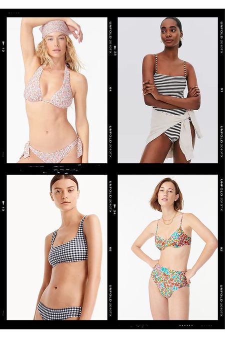 A few swimsuits I just ordered from jcrew - hoping one or two work out! 25% off with WEEKEND   http://liketk.it/3gyED #liketkit @liketoknow.it #LTKsalealert #LTKswim