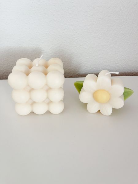 Bubble Candle and Flower Shaped Soy Wax Candle   http://liketk.it/3gn5M #liketkit @liketoknow.it   #LTKhome #LTKfamily #LTKunder50