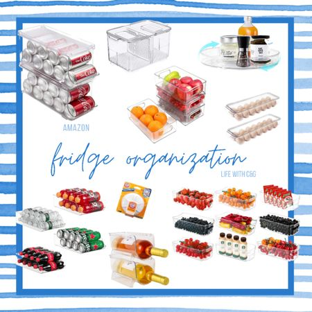 Fridge organization containers storage. How to organize your fridge Amazon finds  #LTKhome #LTKunder50