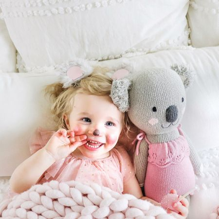 """Playing dress up / being """"Claire The Koala"""" from Cuddle + Kinds brand new doll launching 2/23 6am PST 9am EST  #LTKkids #LTKfamily #LTKhome"""