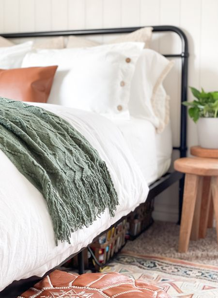 Affordable neutral bedding. Love the button detail on the duvet and fringe detail on the sheets.   #LTKfamily #LTKhome