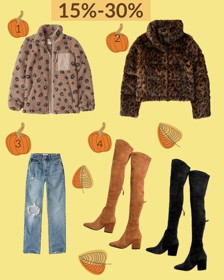 Fall Favorites! Leopard coats, ripped high wasted Jeans, and every girls favorite...Over the knee boots. Shop your screenshot of this pic with the LIKEtoKNOW.it shopping app. This app is having a fall sale Sept.20-22🍁🍂 Happy shopping Mermaid! #liketkit @liketoknow.it  #LTKshoecrush #LTKfit http://liketk.it/2X2Wa #LTKFALL
