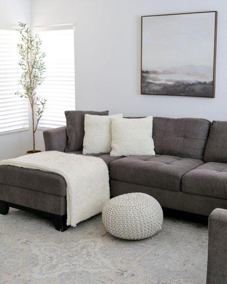 Living room decor, ruggable area rug, neutral wall art, Target home finds  #LTKhome #LTKsalealert #LTKSeasonal