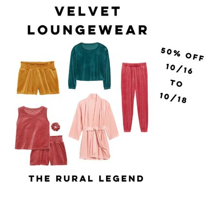 Velvet + jewel tones + lounge wear + 50% off = you better hustle to scoop these up!!!   @oldnavy   #LTKHoliday #LTKstyletip #LTKGiftGuide