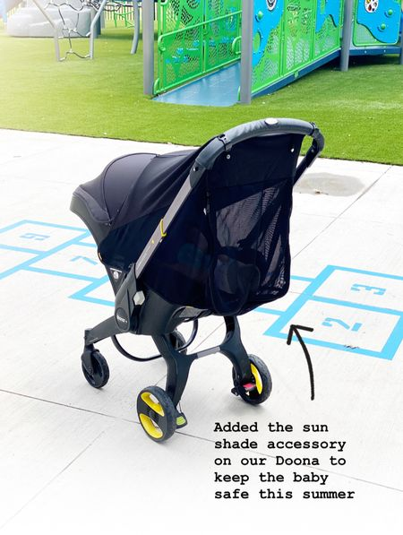 I ordered this sun shade accessory for our Doona stroller and am so glad we had it for the park today. I had skin cancer earlier this year and am overly protective of the kids  skin.    #LTKkids #LTKbaby #LTKbump