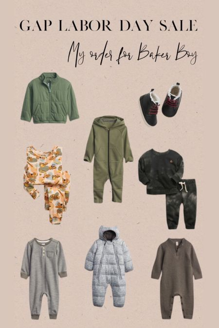Gap Labor Day sale! Here's my order for Baker Boy!