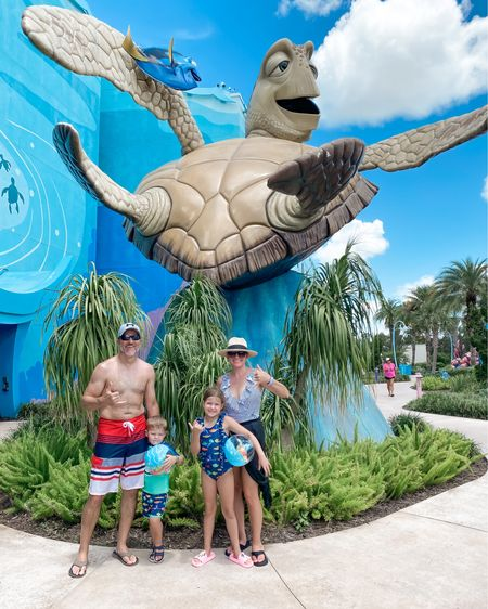 We finally made it to Disney's Art of Animation Resort. Spent the day swimming at the Finding Nemo pool and hanging loose with Crush and friends. Beyond excited to kick off our Disney summer vacation. http://liketk.it/3k3IX #liketkit @liketoknow.it #Disneyoutfits #DisneySwim #Disneyworld #Summertravel #poolday