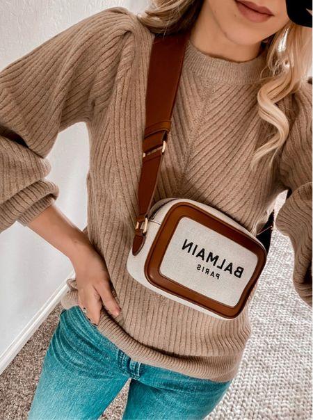 Amazon fashion, Amazon finds, Amazon sweater, Balmain bag   #LTKunder50 #LTKitbag #LTKstyletip