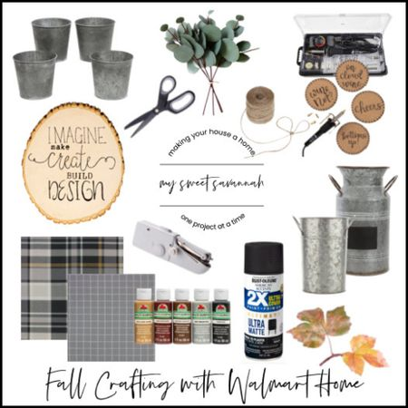 Get your crafting on with @walmart  They have the best selection of paint, unfinished wood decor, paint brushes, faux florals, wood burning tools, etc. for all your fall DIY projects! #sponsored  #LTKhome