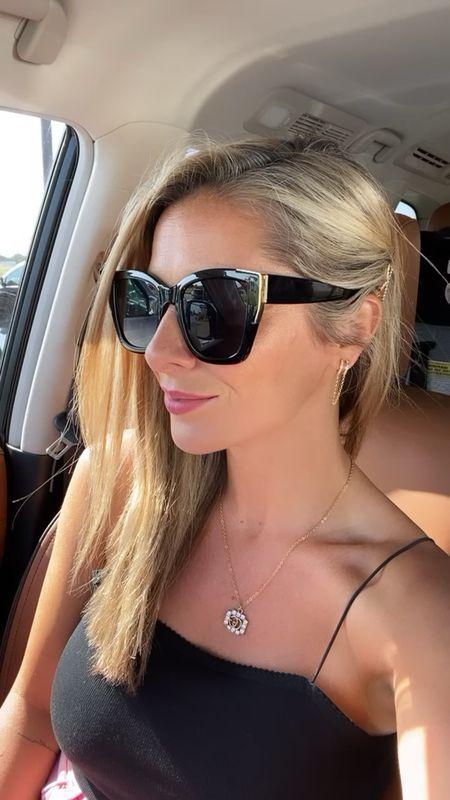 Target universal thread sunnies for $15! Love the gold accents! And Target Sugar fix earrings are $12.99! Sooo cute!  #LTKstyletip #LTKbeauty #LTKsalealert