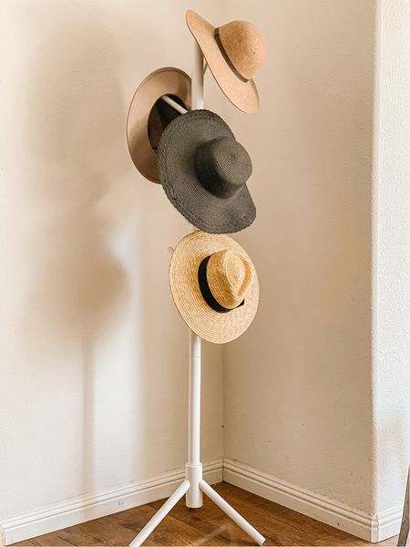 The best hat rack for my summer and fall hats! Amazon find. Nordstrom find. Home decor. Amazon organization. Organized. Brixton Joanna hat. Brixton Joanna straw hat. Fall fashion. ❤️   #LTKstyletip #LTKunder100 #LTKhome