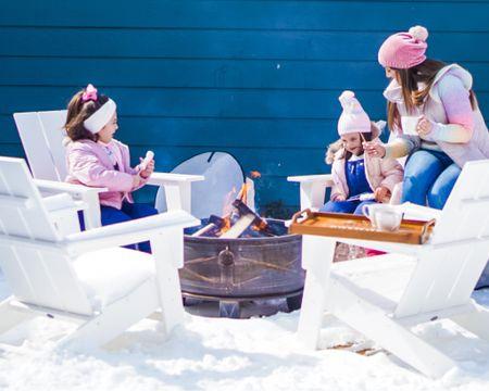 Winter clothes. Cheap inexpensive toddler little girls ski bib snow bib snow ski gear. Ugg boots koolaburra boots. Warm boots. Chenille beanie. Modern Adirondack chairs. Polywood.    http://liketk.it/38Gv1 #liketkit @liketoknow.it #LTKfamily #LTKhome #LTKkids @liketoknow.it.family @liketoknow.it.home