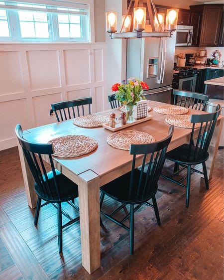 Kitchen/Dining table from World Market. Black kitchen chairs from Amazon. #liketkit @liketoknow.it http://liketk.it/3jIct #LTKhome
