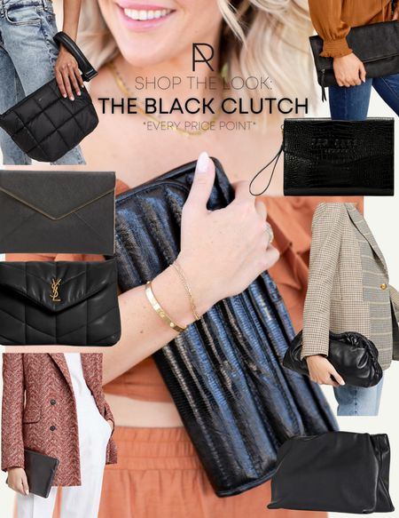 The perfect accessory you need right now: the black clutch // purse, clutch, itbag   #LTKitbag #LTKstyletip #LTKSeasonal