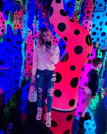 I took Caleb & Sofia to the art museum after school today to see the Yayoi Kusama Exhibit. It was so much fun, Sofia was obsessed!! Now we are on the couch eating pizza watching movies. http://liketk.it/2zUBw #liketkit @liketoknow.it