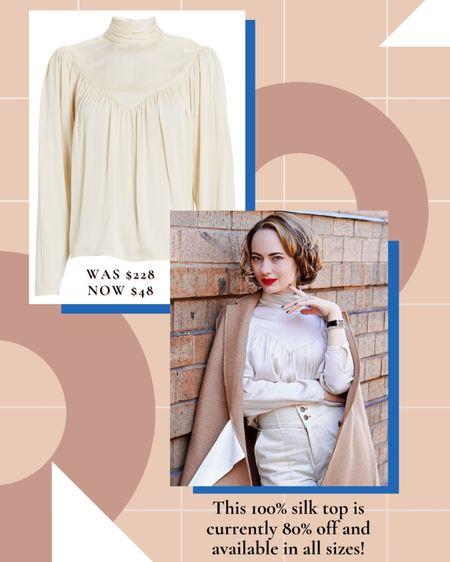 Sale alert! This silk blouse is 80% off at checkout! http://liketk.it/3dplQ #liketkit @liketoknow.it #LTKsalealert #LTKunder50