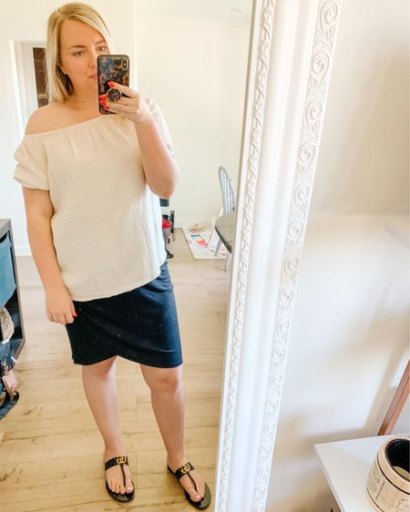 Wedding outfit. Workwear. Sandals. Summer outfit. Beach vacation. Skirt. Size large skirt and medium top. Shop my daily looks by following me on the LIKEtoKNOW.it shopping app http://liketk.it/3gBkA #liketkit @liketoknow.it #LTKunder50 #LTKstyletip #LTKshoecrush