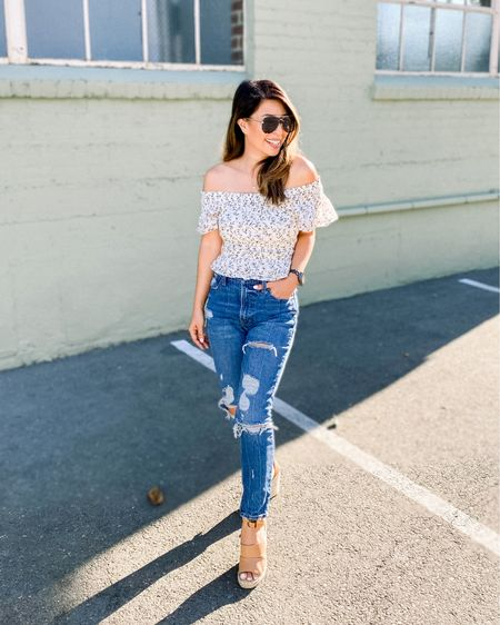 Real debate in my house: do you wad your toilet paper or fold it? I fold mine and hubby wads it up like a Neanderthal! 😂   Loving my off the shoulder top that's 50% off right now and they have a ton of similar jeans for major sale too! Great thing about this off the shoulder top is that it stays put on my shoulders! TTS, got my xs. I'm 5'1 & 110 lbs.    Linked my outfit on the LIKEtoKNOW.it shopping app ! http://liketk.it/2TH6x #liketkit #LTKsalealert #LTKstyletip #LTKunder50 @liketoknow.it