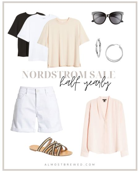 NORDSTROM HALF YEARLY SALE PICKS  SUMMER, jewelry, tops, sunglasses, shorts, beauty, hair, accessories, shorts  #LTKSeasonal #LTKsalealert #LTKstyletip