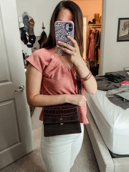 Travel outfit // Nordstrom sale // madewell top // crossbody bag // summer outfit // travel outfit // amazon fashion // travel style // travel   #LTKstyletip #LTKunder100 #LTKsalealert