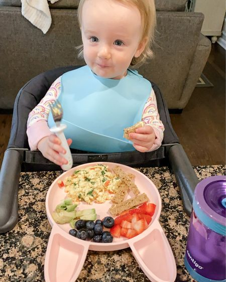 High chair for the counter (amazing for traveling), best no-spill straw cup, toddler utensils, bibs, and silicon plates! http://liketk.it/3gSXd #liketkit @liketoknow.it #LTKkids #LTKbaby #LTKtravel