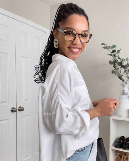 @liketoknow.it #liketkit http://liketk.it/3cXIC if you don't have a white button down you need one! #LTKstyletip #LTKunder100 #LTKunder50