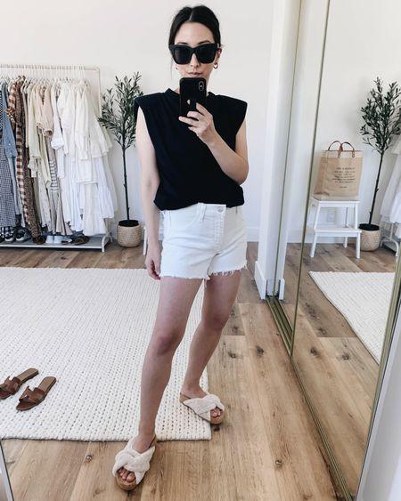 Bump-friendly #ootd. Best maternity shorts.  Top- Mango xs Shorts- Joe's Jeans 25 Sandals- Vince 5 on sale! Sunglasses- Quay Earrings- Madewell   http://liketk.it/3ihJW @liketoknow.it #liketkit #LTKbump #LTKsalealert #LTKshoecrush