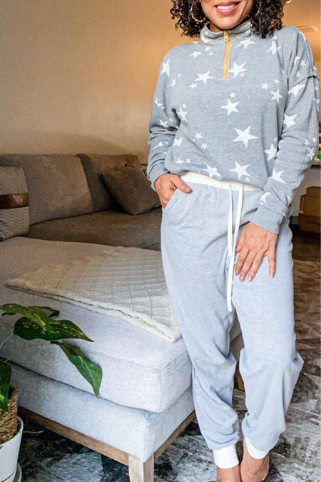 Soft and comfy lightweight sweats and one of my fave pullover sweatshirts.  Both under $20!