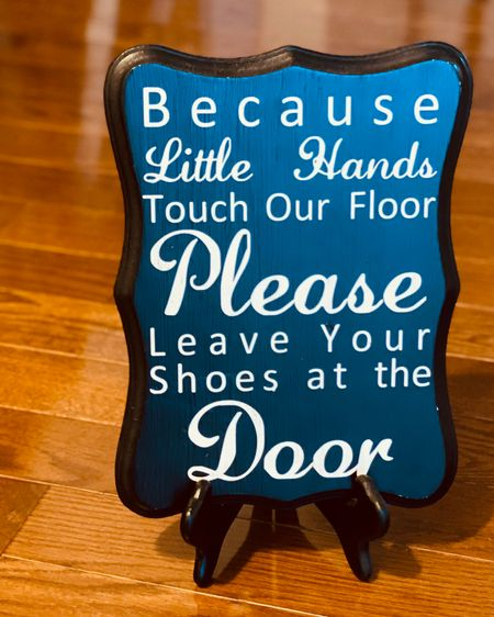 Which one are you? No-shoes inside policy home or shoes....  If your answer is no (we don't care) Pull up a seat and let's chat. There are a few things you need to know about wearing shoes inside and I'm diving into it on the blog.   If your answer is yes. Linking this adorable sign which is great for welcoming your guest.   http://liketk.it/3cz6X #liketkit @liketoknow.it Follow me on the LIKEtoKNOW.it shopping app to get the product details for this sign and others products I recommend.  You can thank me later!😉