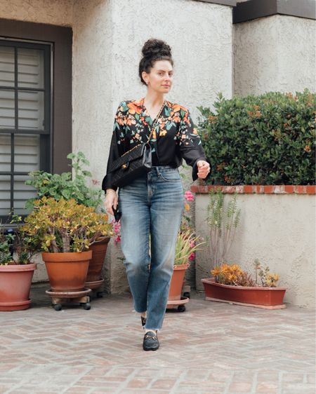 Mama got dressed today in all the classics. Obsessing over comfy straight-leg denim as opposed to skinny jeans right now (thanks to Gen-Z!). Pairing them with this bodysuit blouse, vintage purse, and my fave loafers that have worn in over the years so nicely. #liketkit @liketoknow.it http://liketk.it/3f9q1 #LTKstyletip #LTKworkwear #LTKshoecrush