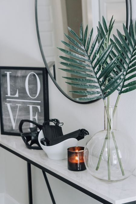 Simple entryway table decor. Clean, stylish, functional and budget-friendly.  http://liketk.it/3fcE0 @liketoknow.it @liketoknow.it.home #liketkit #LTKhome #LTKunder50