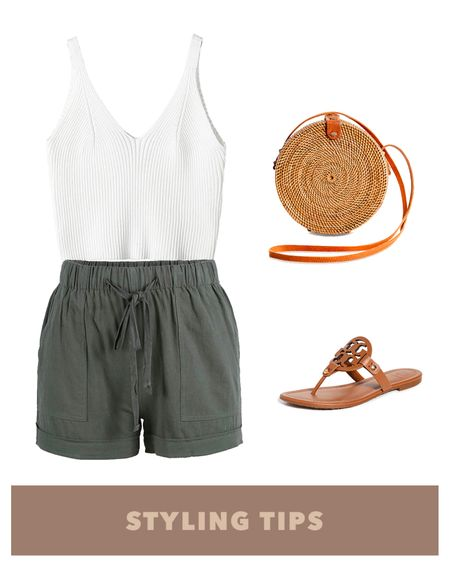Elastic waist shorts paired with a cami tank top , sandals and a straw bag makes a perfect vacation outfit or great to style with your spring outfits. Shop my daily looks and finds by following me on the LIKEtoKNOW.it shopping app http://liketk.it/3b2I5 #liketkit @liketoknow.it l #LTKcurves #LTKsalealert #LTKstyletip #LTKtravel #LTKunder50 #LTKshoecrush #LTKitbag #LTKunder100 # #LTKSeasonal   Amazon fashion   amazon finds   vacation outfits   shorts outfit   summer fashion   tank top outfits   cami top   bags under 100   bags under 50   bags on sale   amazon spring finds   petite style   petite fashion   beach vacation   casual outfit   sandals casual   sandals amazon   sandals sale  