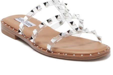 Steve Madden Averill Studded Sandal. On sale less than $60! Comes in clear, black or tan.   #LTKshoecrush #LTKsalealert #LTKunder50