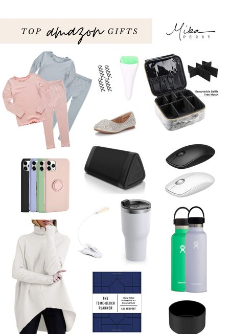 Top Amazon gifts guide 🖤 my fave for kids, home, sweaters, tech, Bluetooth speakers, tumblers, planners, makeup bag, pajamas, iPhone case   #LTKgiftspo #LTKunder100 #LTKunder50