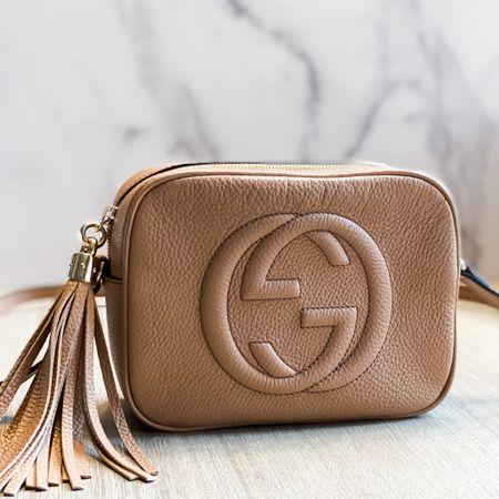My special 40th birthday present// GUCCI disco leather bag http://liketk.it/2JKGY #liketkit @liketoknow.it #LTKitbag crossbody bag // tan crossbody // Gucci crossbody // designer bag