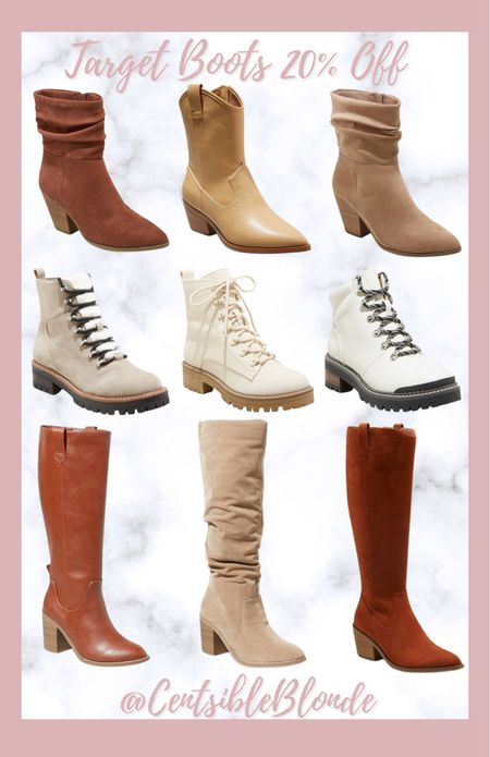 Target boots Fall boots Winter boots Affordable boots Western boots Under the knee boots   #LTKshoecrush #LTKunder50 #LTKSeasonal