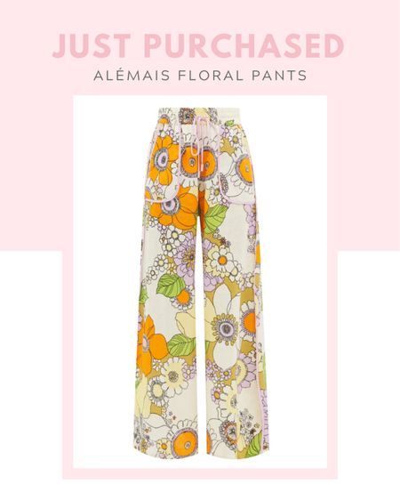 Just purchased: ALÉMAIS Farrah floral-print linen wide-leg trousers, matches fashion Spring / summer, fall / winter, comfy clothes, casual outfit, colorful, co-ordinating item, matching set, wide-leg silhouette, multicolor, linen, linen floral printed matching top, new arrival  #LTKworkwear #LTKSeasonal #LTKstyletip