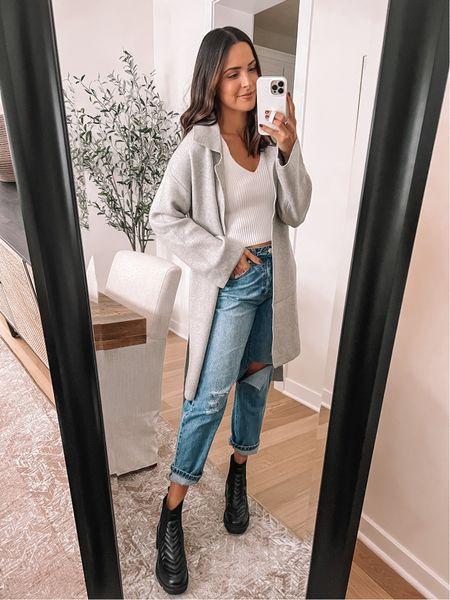 Forever 21 finds: Sherpa coat: true to size (S) Sweater tank: true to size (S)  Jeans: true to size, size up for looser fit (29) - Boots: true to size (use code TAYLOR15)    #LTKsalealert #LTKunder100 #LTKunder50