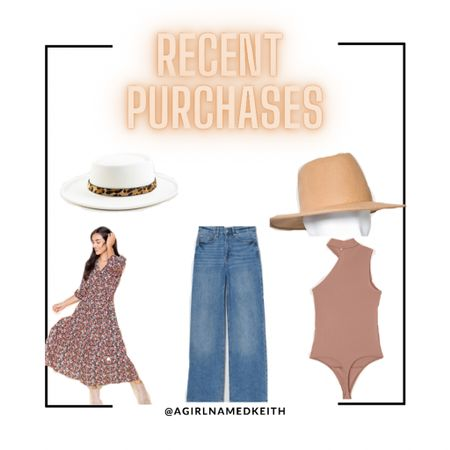 Most of my recent purchases are currently on sale! Francesca's Collection Cinthia Wild Flower Maxi Dress, Francesca's Collection Kathleen Leopard Band Hat, H&M loose high-waist jeans, Abercrombie & Fitch seamless asymmetrical bodysuit   #LTKsalealert #LTKunder100 #LTKSeasonal
