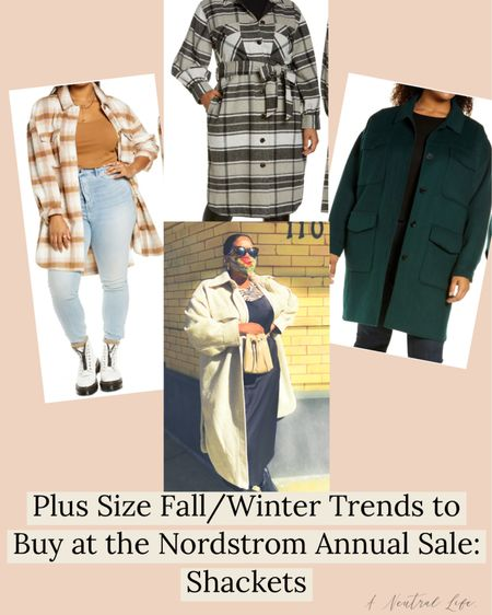 #NSale I'm sharing the plus size fall/winter staples you can buy TODAY at the Nordstrom sale.   I wore plus size shackets EVERYWHERE last year and I'm not stopping this year! They're versatile, cute and right now, super affordable.   #LTKcurves #LTKunder100 #LTKsalealert