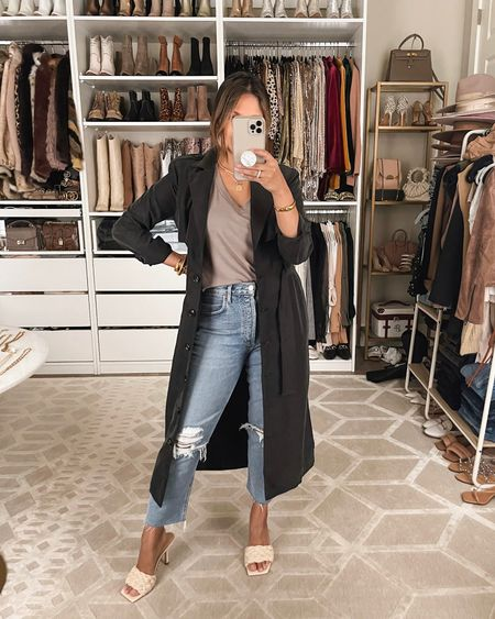 These lightweight trench dusters are marked down to only $69! (This offer lasts only until 11:59PM CST Saturday)   #workwear #casualworkwear #nycoutfit #streetstyle #gibsonlook #electricpicks #momjeans #agoldejeans #falloutfits #basics #basictee #paddedshouldertee   #LTKunder100 #LTKworkwear #LTKsalealert