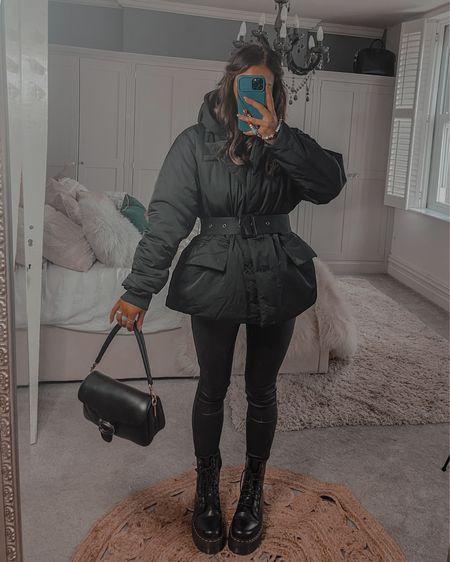 All black autumn outfit  Padded coat  #LTKSeasonal #LTKeurope #LTKstyletip