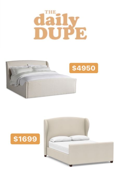 Daily Dupe! Wingback upholstered bed!   #LTKhome