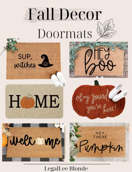 Cute Fall doormats for your fall porch decor! - fall doormat - Etsy finds - amazon finds - amazon gone - porch decorations - fall home decor - fall decorations - fall outdoor decor   #LTKunder100 #LTKhome #LTKunder50