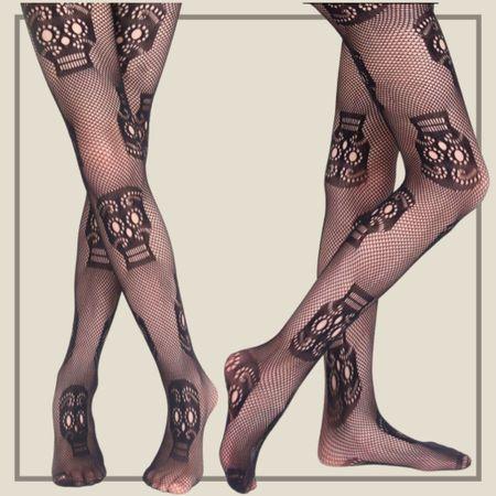 Skull pattern fishnet tights  #LTKstyletip #LTKunder50 #LTKunder100