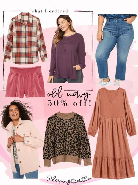 Old navy plus size favorites that are 50% off. No code needed. Ordered the flannel, tunic, and lounge showers   #LTKunder50 #LTKsalealert #LTKcurves
