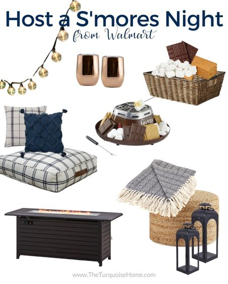 Get the essentials for hosting a s'mores party night at home! Everything from the fire pit to seating to cozy blankets and more! There's even a mini s'mores maker if you don't have room for a big fire pit. Love it!  #LTKhome #LTKSeasonal #LTKunder50