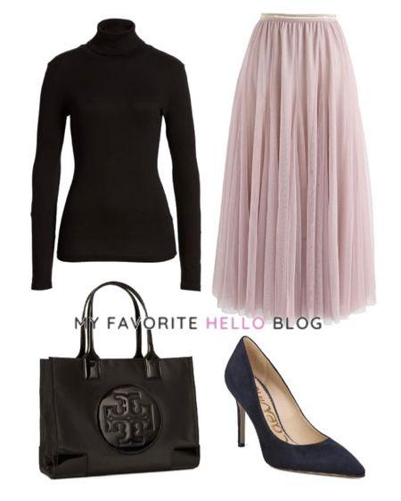 Tulle skirt fall outfit. Tulle skirt with black turtleneck and black heels. http://liketk.it/3gcQz #liketkit @liketoknow.it #falloutfit #tulleskirt #blackbag  #LTKstyletip #LTKitbag #LTKshoecrush