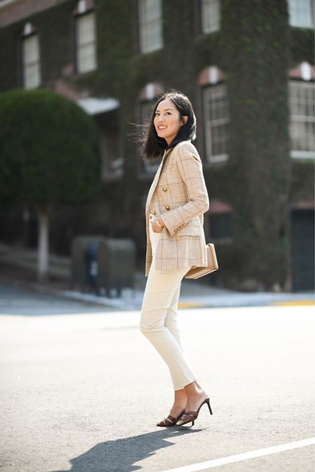 The perfect transitional summer to fall blazer! Love the light colors and I'll be pairing it with deeper hues as it gets colder! Found similar options for less below!   #LTKSeasonal #LTKstyletip #LTKworkwear